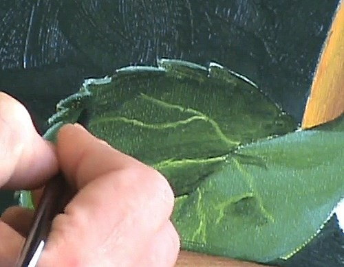 painting the leaves