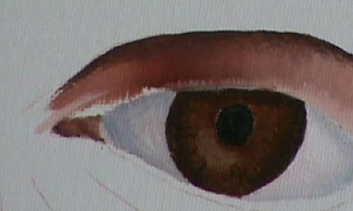 painting the eyelids