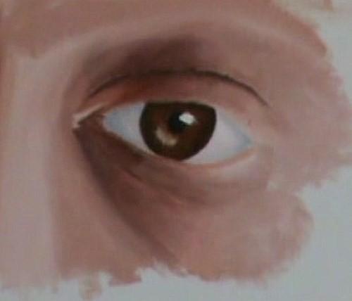 paint the skin surrounding the eye