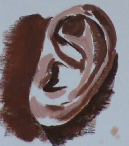 blocking in the tonal range colors of the ear