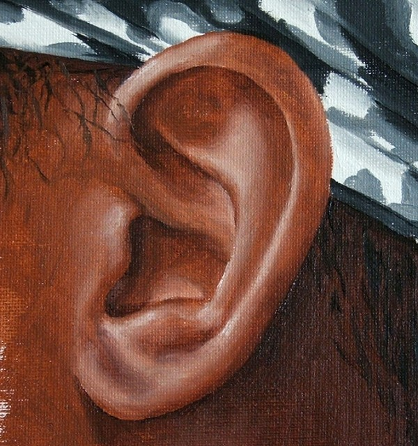 final painting of the ear