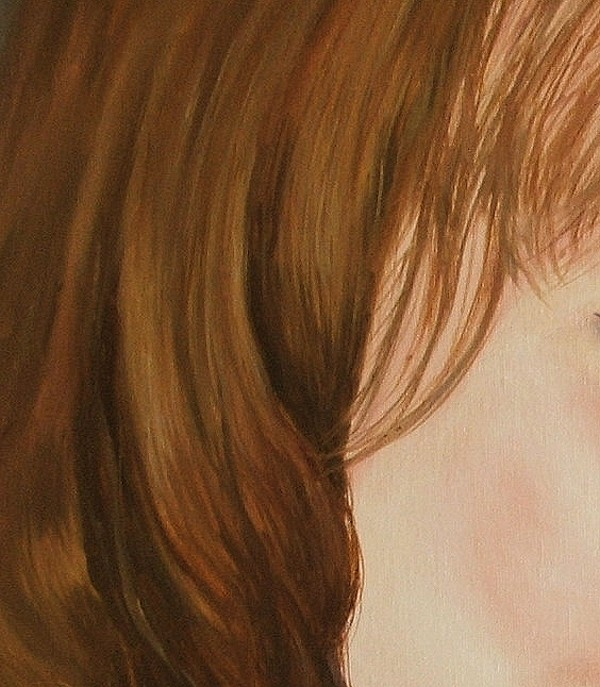refining the painting hair