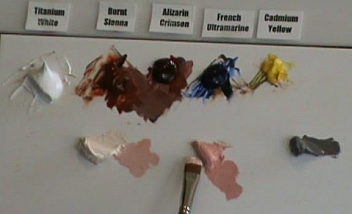 colors used to paint the wrinkles