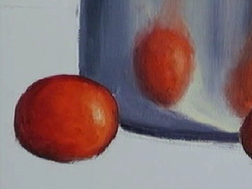 painting the tomatoes