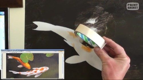 painting the white parts of the koi