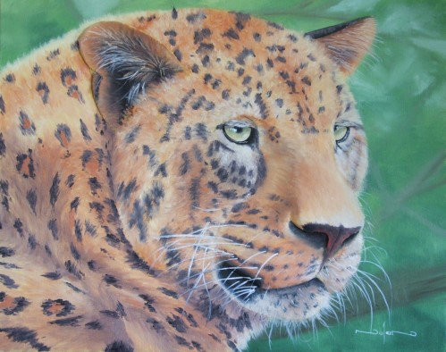 final painting of the leopard