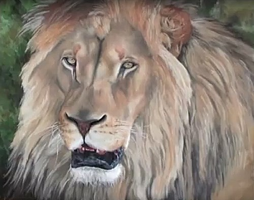 final painting of the lion