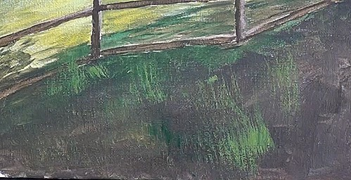 paint the foreground grass