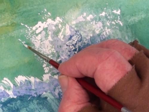 轻涂白色油漆看起来像液滴