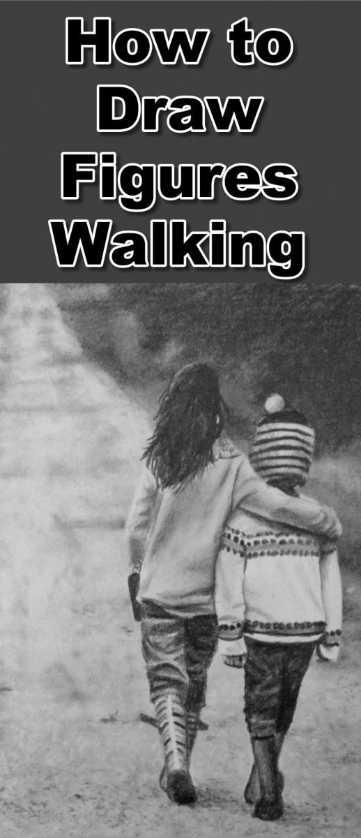 children walking down the path