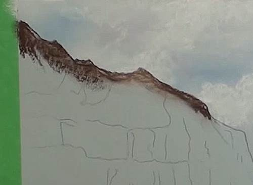 drawing the mountains