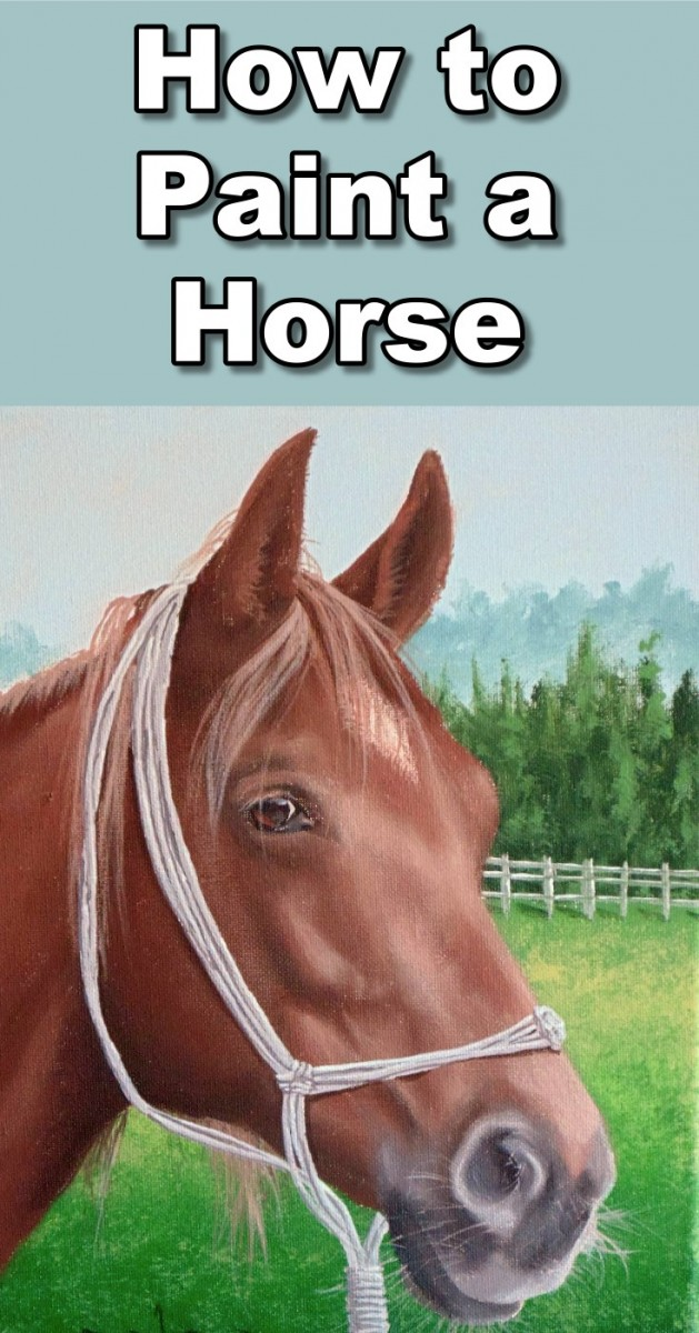 how to paint a horse portrait in acrylic