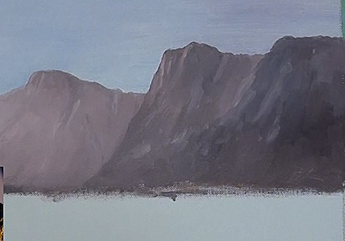 painting the mountains - how to paint a early morning splendor in acrylic
