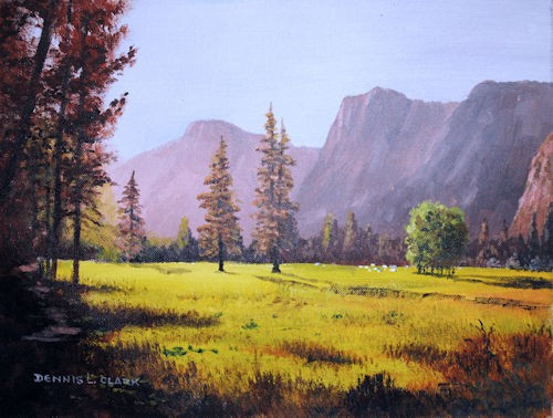 final painting - how to paint a early morning splendor in acrylic