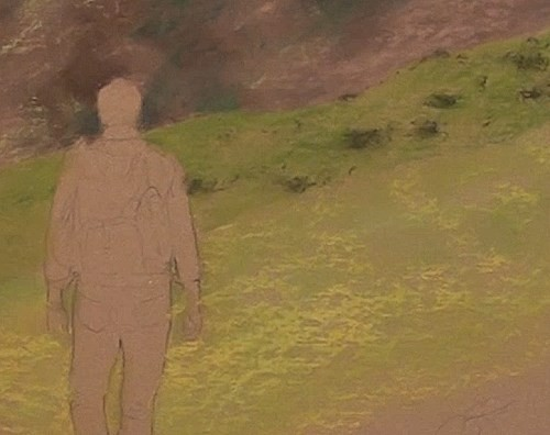 how-to-draw-a-hiker-walking-in-pastel-middle-distance