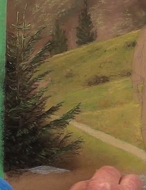 how-to-draw-a-hiker-walking-in-pastel-closer-trees