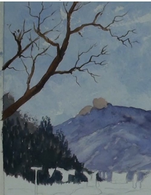 how-to-paint-a-cottage-in-a-valley-landscape-in-watercolor-tree
