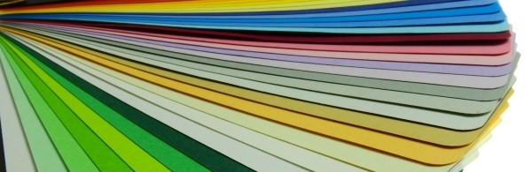 Row of multi-coloured pastel papers