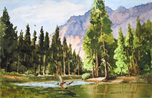 final-painting-peaceful-stream-in-watercolor