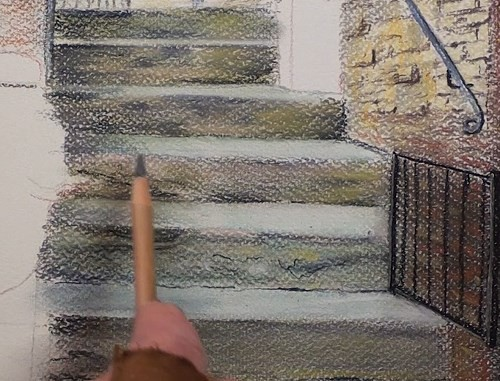 final-drawing-tuscan-stairway-in-pastel-stairs