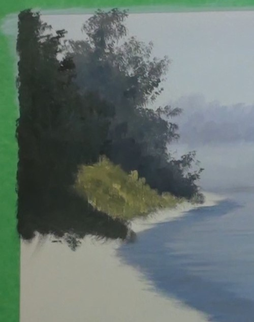 how-to-paint-a-misty-lake-in-acrylic-trees