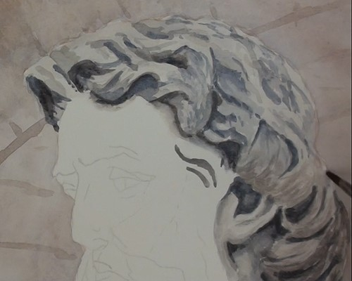 how-to-paint-a-statue-bust-in-watercolor-hair