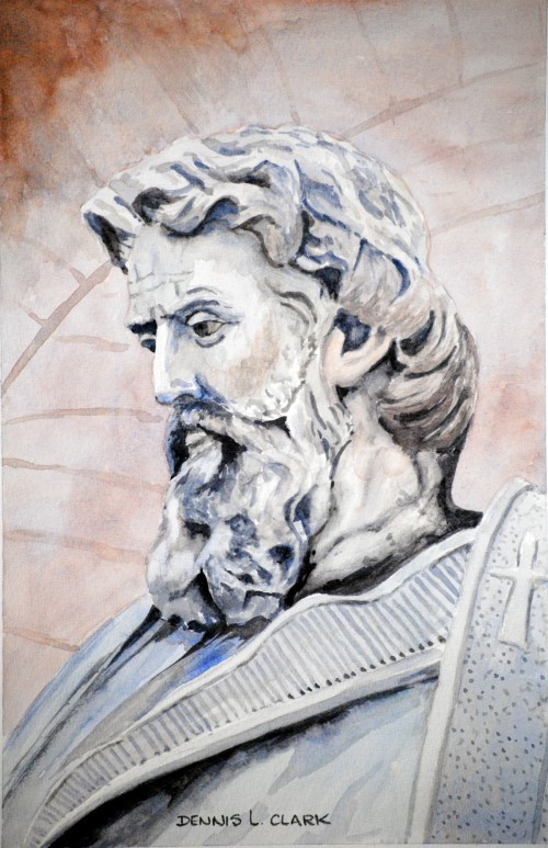 how-to-paint-a-statue-bust-in-watercolor