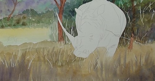 how-to-paint-a-rhino-in-watercolor-foreground