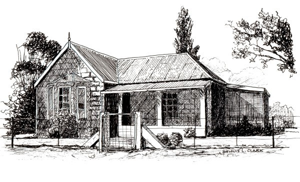 How To Draw A Farmhouse In Pen And Ink