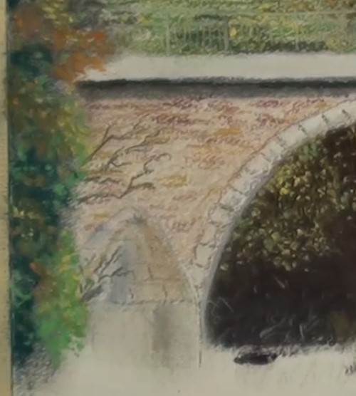 how-to-draw-a-landscape-bridge-in-pastel-left-foliage