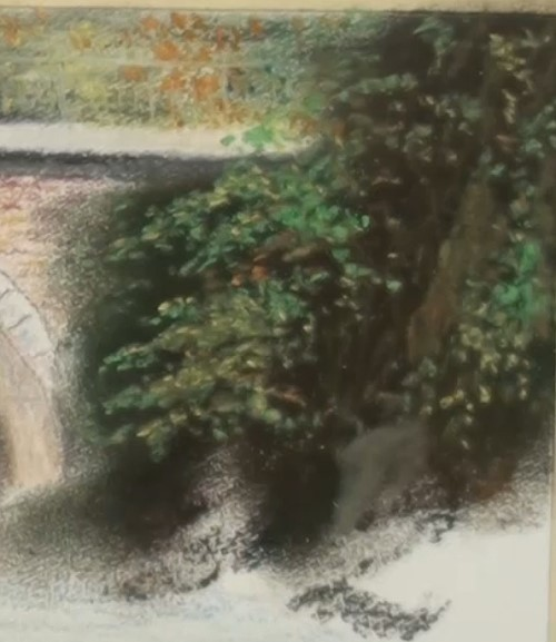 how-to-draw-a-landscape-bridge-in-pastel-right-foliage