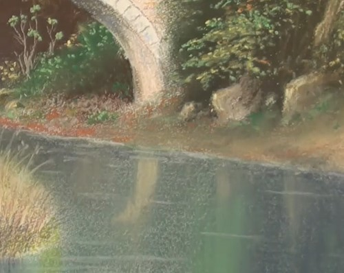 how-to-draw-a-landscape-bridge-in-pastel-reflections-water