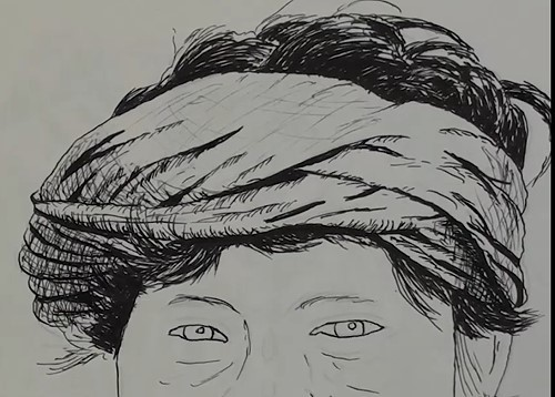 how-to-draw-a-snake-charmer-portrait-in-pen-and-ink-head-cloth