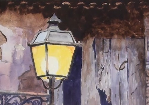 how-to-paint-a-still-life-fancy-lantern-in-watercolor-roof-tiles