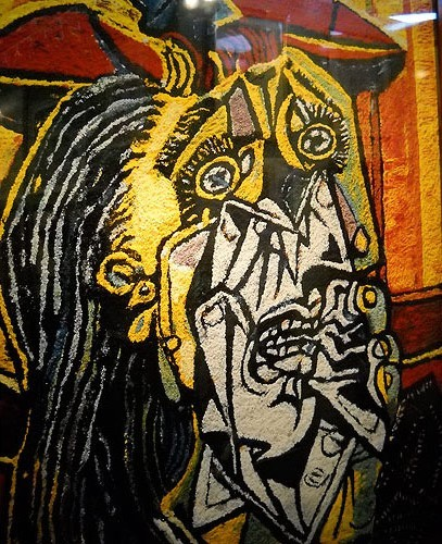 Muniz - Weeping Woman after Picasso