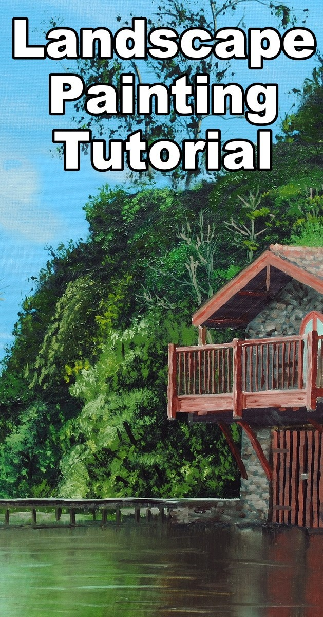 how to paint a boathouse landscape in oil