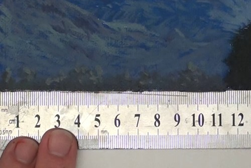 painting the distant treeline - how to paint a boathouse