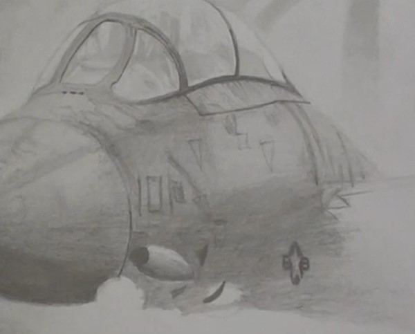 draw in the detail on the fuselage