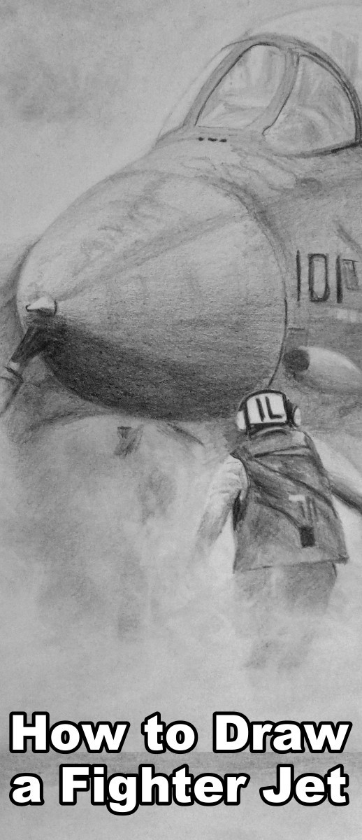 How to draw a fighter jet in pencil. Pencil drawing tutorial. Online art lessons