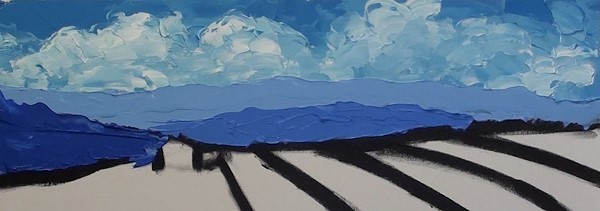 painting the distant mountains