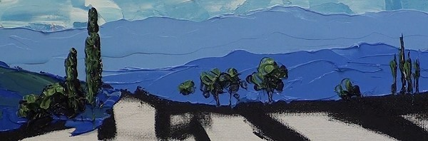 painting the distant trees