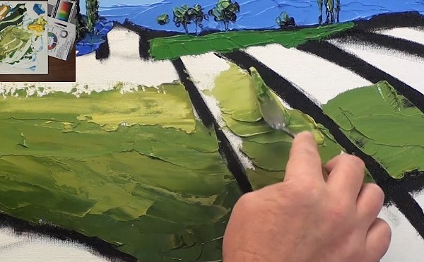 painting the foreground