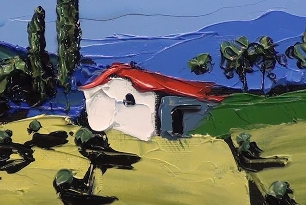 painting the focal point houses with impasto paint