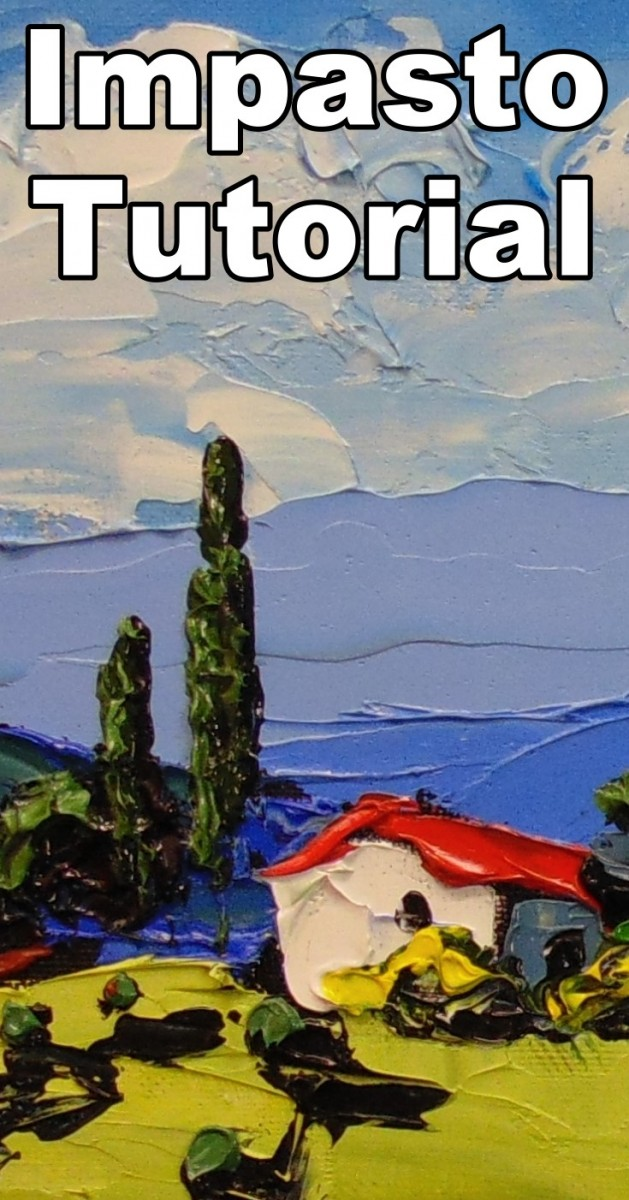 How to Paint an Impasto Landscape with a Painting Knife. how to paint with a knife, knife painting tutorial, how to paint a landscape, impasto painting, impasto, thick paint, palette knife painting, painting knife, online art lessons, oil painting classes, nolan clark
