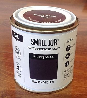 Matt black acrylic paint