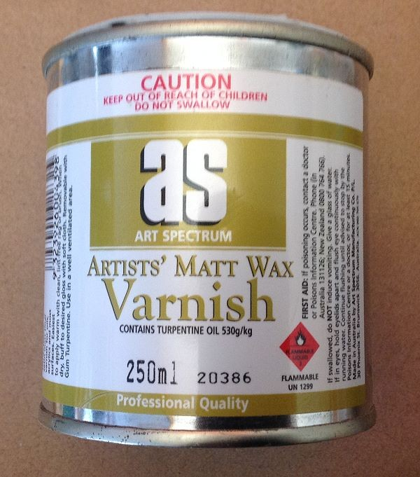 Tin of Artist's Matt Wax Varnish