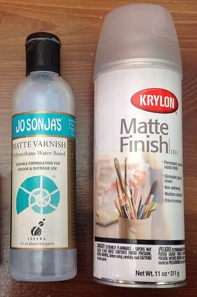 Liquid and spray polyurethane artist varnish