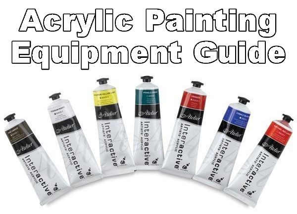 acrylic painting equipment guide banner