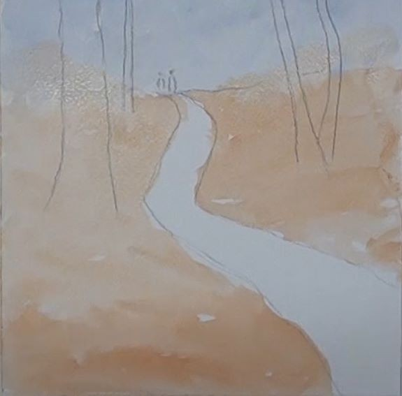 underpainting the ground