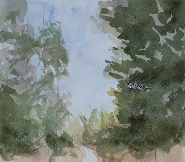 painting the foreground leaves